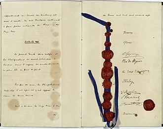 Treaty of London (1867) - Signatures on the 1867 Treaty of London.