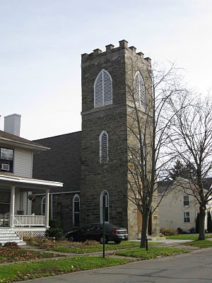 National Register of Historic Places listings in Bradford County, Pennsylvania - Image: Trinity Episcopal Church Athens PA Nov 09