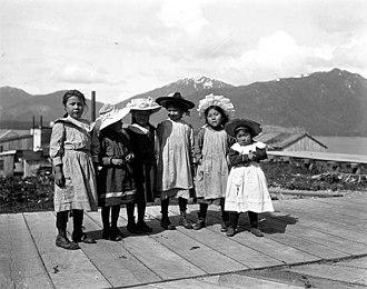 Metlakatla, Alaska - Tsimshian children in Metlakatla, 1904