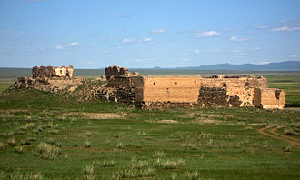 Mongolia - Castle built in northern Mongolia by Tsogt Taij in 1601.