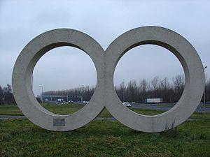 Ad Dekkers (artist) - Image: Twee cirkels Ad Dekkers