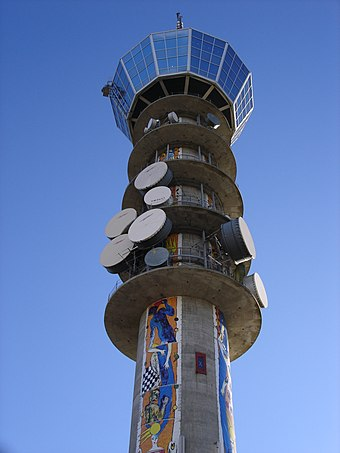 Broadcasting tower in Trondheim, Norway Tyholt taarnet.jpg