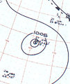 Typhoon Clara analysis 28 Oct 1961.png