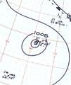 Typhoon Clara analysis 28 Oct 1961.png