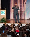 U.S. Department of Agriculture (USDA National Institute of Food and Agriculture Director Dr. Sonny Ramaswamy opened his address about to approximately 300 4-H youth members of the 2013 National 4-H Conference (Pic 3).jpg