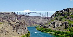 Perrine Bridge spanning the Snake River Canyon at Twin Falls