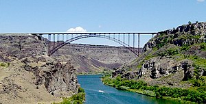 Idaho Transportation Department - Perrine Bridge on Hwy 93 over the Snake River
