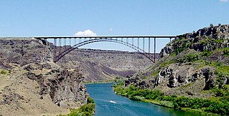 Snake River an der Perrine Bridge in Twin Falls