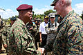 U.S. Marine Corps Lt. Gen. John Toolan, right, the commander of Marine Corps Forces Pacific, shakes hands with Malaysian army Gen. Tan Sri Raja Mohamed Affandi bin Raja Mohamed Noor, the chief of the Malaysian 140902-M-CB493-060.jpg