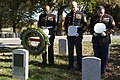 U.S. Marines place wreaths for the 241st Marine Corps Birthday in Arlington National Cemetery (30264682283).jpg