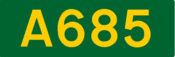 A685 road shield