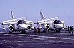 US-3A Vikings of VRC-50 on USS Kitty Hawk (CV-63) 1987.JPEG