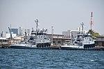 USAV MGen Nathanael Greene(LT-801) & BGen Zebulon Pike(LT-804) right rear view at Port of Yokohama April 28, 2018.jpg