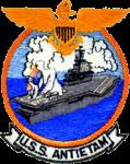 USS Antietam (CVS-36) insignia, in the 1950s (NNAM.2004.065.002.013).png