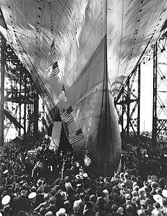 USS Enterprise (CV-6) launching ceremony.jpg