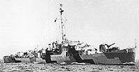 USS John C. Butler (DE-339) underway at sea, circa in 1944.jpg