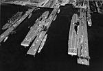 USS Lexington (CV-2) and Saratoga (CV-3) at the Puget Sound Navy Yard in June 1932.jpg