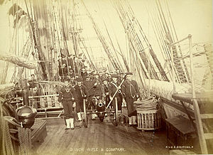 USS Saratoga (1842) - Sailors of USS Saratoga in 1842, one of the first photographs of American combat veterans.