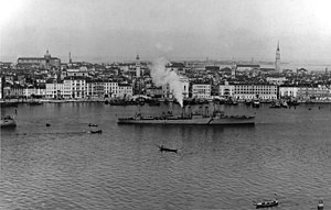 USS Stribling (DD-96) at Venice, Italy, on 10 April 1919