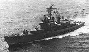 USS Wilkinson (DL-5) underway in late 1960s
