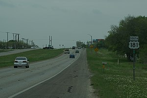 U.S. Route 181 - US 181 near its northern terminus southeast of San Antonio, Texas.