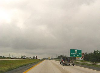 U.S. Route 65 in Springfield, Missouri. US 65 at Sunshine.jpg
