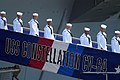 US Navy 030807-N-1397H-003 Sailors depart USS Constellation (CV 64) during the ships decommissioning ceremony.jpg