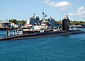 US Navy 071024-N-2218M-002 The Los Angeles-class fast attack submarine USS Charlotte (SSN 766), comes home to Pearl Harbor, after having completed a two-year Depot Modernization Period at Norfolk Naval Shipyard in Portsmouth, V.jpg