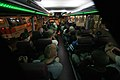 US Navy 080716-N-3659B-163 Sailors assigned to the Nimitz-class aircraft carrier USS Ronald Reagan (CVN 76) ride a bus back to the ship after enjoying a night out in Pusan.jpg