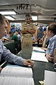 US Navy 080818-N-8273J-227 Master Chief Petty Officer of the Navy (MCPON) Joe R. Campa Jr. speaks with Sailors while visiting the Los Angeles-class fast-attack submarine USS Columbia (SSN 771).jpg