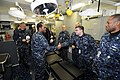 US Navy 090316-N-6106R-031 Vice Adm. Mel Williams, Jr. greets medical service corps Sailors.jpg