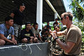US Navy 100430-N-1635S-432 An explosive ordnance disposal technician assigned to Explosive Ordnance Disposal Mobile Unit (EODMU) 5, teaches time fuse techniques to members of the Armed Forces of the Philippines.jpg