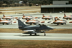 RAAF Base Pearce - Image: US Navy TA 4 at RAAF Base Pearce in 1982