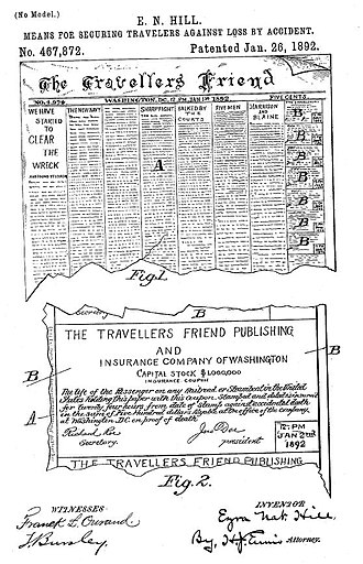 Insurance patent - Early example of an insurance patent