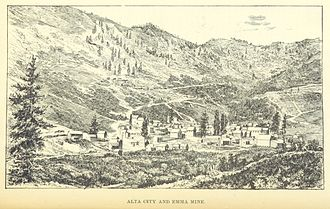 Alta, Utah - The Emma Silver Mine and the City (c.1875)