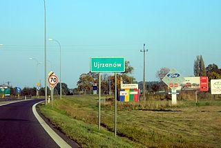Ujrzanów Village in Masovian, Poland