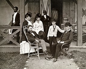 Family group on porch
