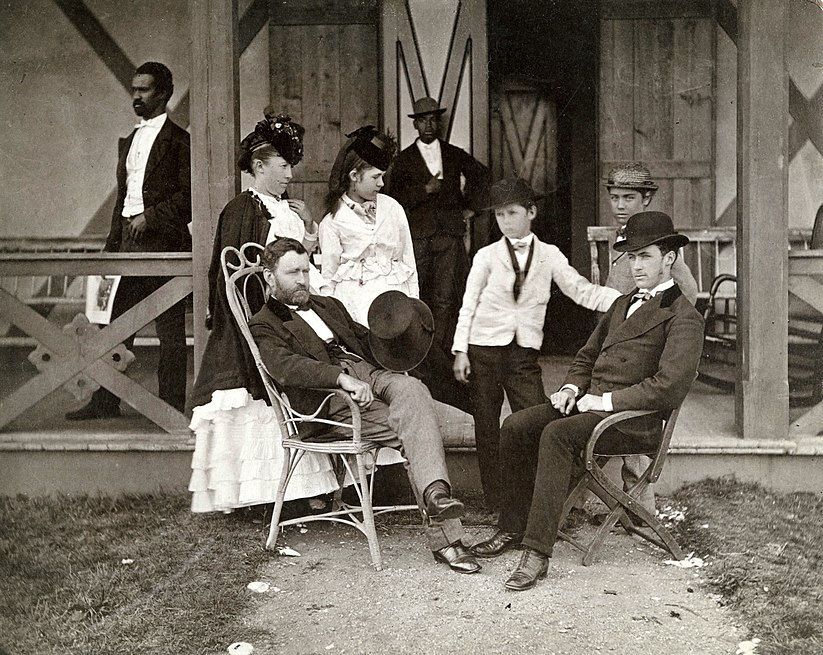 Ulysses Grant and Family at Long Branch, NJ by Pach Brothers, NY, 1870