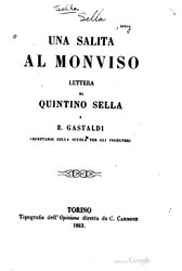 Quintino Sella: Una salita al Monviso
