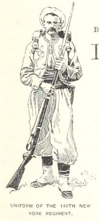 146th New York Volunteer Infantry Regiment - The zouave uniform of the 146th