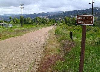Historic Union Pacific Rail Trail State Park - Historic Union Pacific Rail Trail just north of Wanship