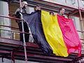 United Belgium Brussels demonstration 20071118 DMisson 00038b Belliard street Belgian flag.jpg