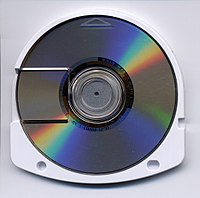 Universal Media Disc, an optical disc medium developed by Sony for use on the PlayStation Portable.jpg