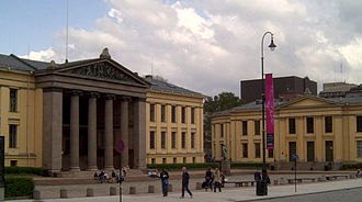 University of Oslo - Central campus of the university, where today only the faculty of law is located. These buildings were inspired by the famous buildings of Prussian architect Karl Friedrich Schinkel in Berlin.