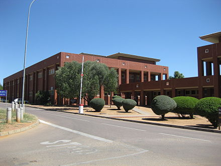 The University of Botswana's Earth Science building in Gaborone, Botswana University of Botswana Earth Science.JPG