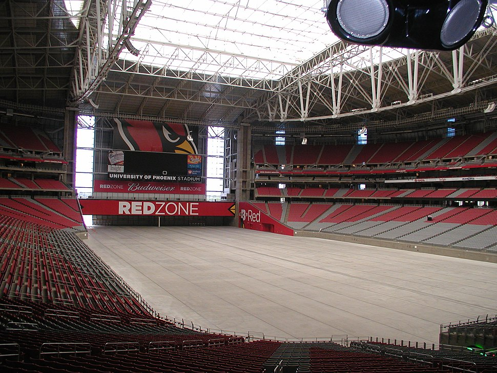 University of Phoenix Stadium no field