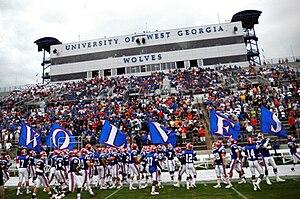 West Georgia Wolves - Home side of University Stadium.
