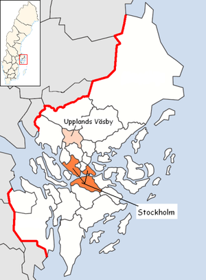 Upplands Väsby Municipality in Stockholm County.png