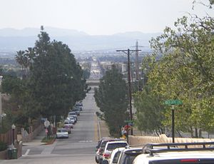 Van Nuys Boulevard - Looking south from Lake View Terrace