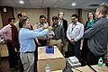 Van de Graaff Generator Experimentation - Indo-Finnish-Thai Exhibit Development Workshop - NCSM - Kolkata 2014-11-27 9763.JPG